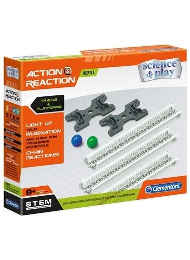 Clementoni 19117 Action & Reaction - Raylar Ve Plarformlar / Ek Paket - Genişletme Kiti / +8 Yaş Renkli
